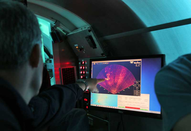 Image of crew conducting sonar scan from Cyclops 1