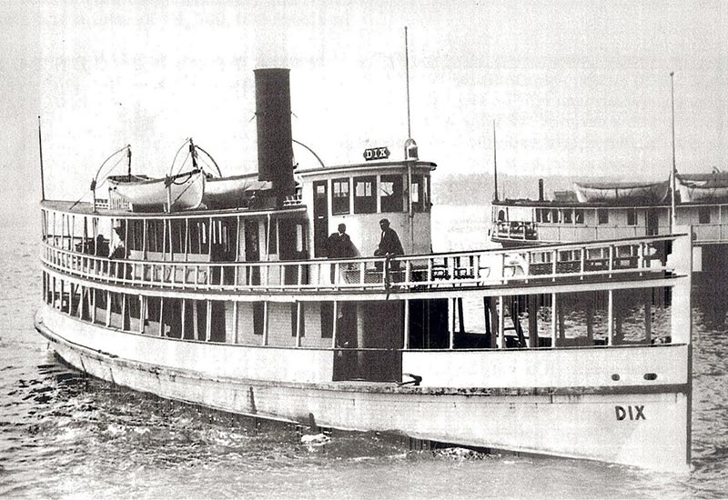 SS Dix near Seattle waterfront historical circa 1906