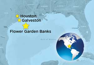 gulf of mexico map for flower gardens expedition