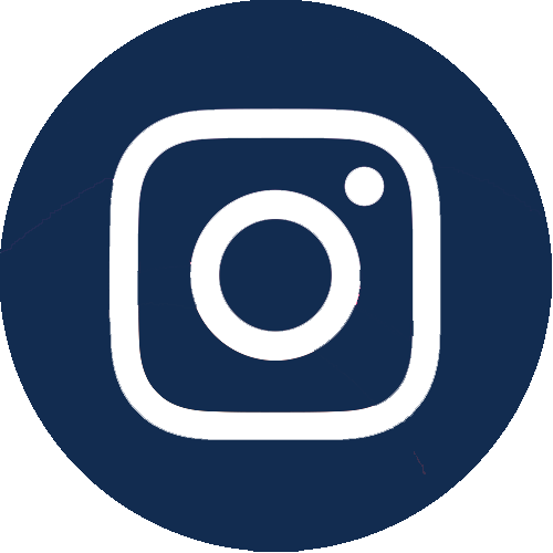 Instagram icon in dark blue