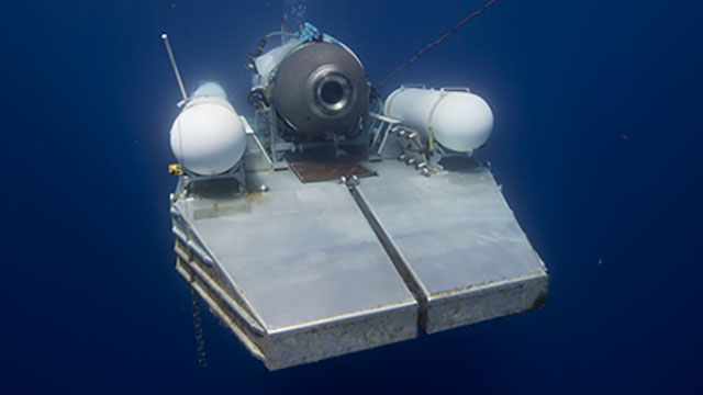 Photo of Titan on platform underwater